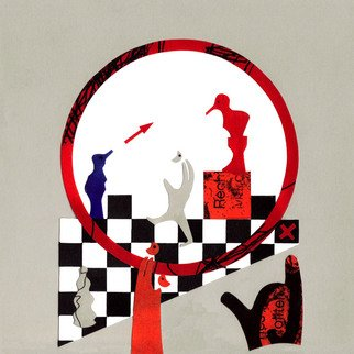 Caroline List Artwork The Morals of Chess, 2008 Collage, Abstract Figurative