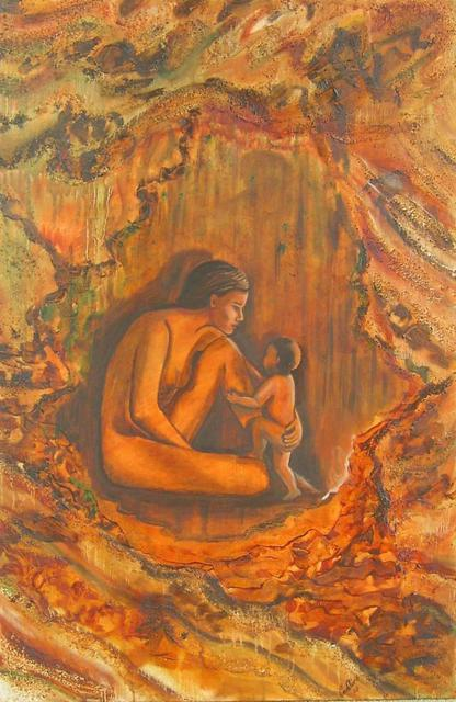 Caroline Macdonald  'Cave Painting', created in 2003, Original Painting Oil.