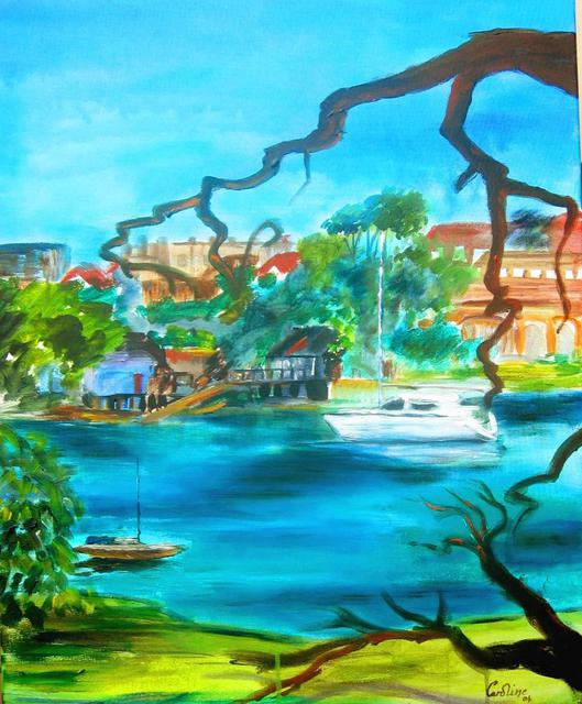 Artist Caroline Macdonald. 'Cremorne Walk' Artwork Image, Created in 2004, Original Painting Oil. #art #artist