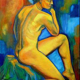 Caroline Macdonald Artwork Jaqi, 2004 Oil Painting, Nudes