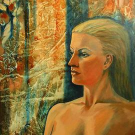 Caroline Macdonald Artwork Jaqi, 2005 Oil Painting, Nudes