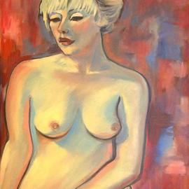 Caroline Macdonald: 'Kate', 2004 Oil Painting, Nudes.