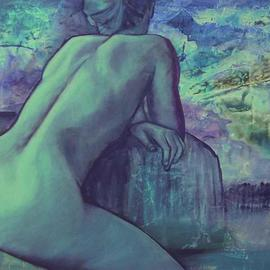 Caroline Macdonald: 'Northern LIghts', 2005 Oil Painting, Nudes.