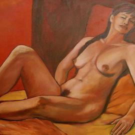 Caroline Macdonald Artwork Rebecca, 2004 Oil Painting, Nudes