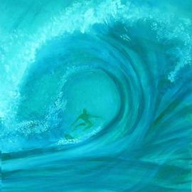 Caroline Macdonald Artwork Surfer, 2003 Oil Painting, Abstract