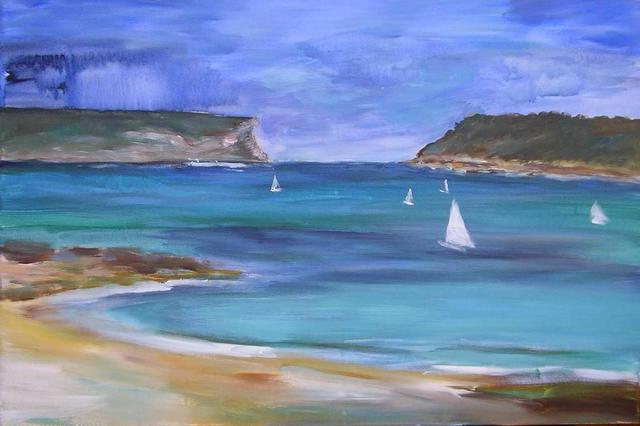 Caroline Macdonald  'Sydney Seascape', created in 2004, Original Painting Oil.