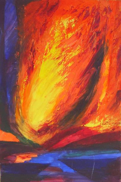 Artist Caroline Macdonald. 'Wildfire' Artwork Image, Created in 2003, Original Painting Oil. #art #artist