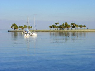 Carolyn Bistline: 'SAIL AWAY', 2012 Color Photograph, Sailing.  No Chop- the feeling  of Zen. Enjoy the tranquil, relaxing feel of the water on the bayfront.      ...