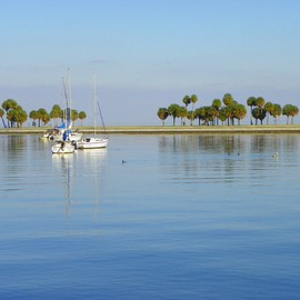 Carolyn Bistline: 'SAIL AWAY', 2012 Color Photograph, Sailing. Artist Description:  No Chop- the feeling  of Zen. Enjoy the tranquil, relaxing feel of the water on the bayfront.      ...