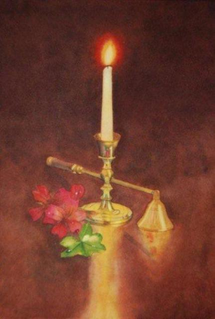 Carolyn Judge  'Candle And Snuffer', created in 2010, Original Watercolor.