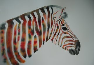Carolyn Judge Artwork Zen Zebra, 2015 Watercolor, Animals