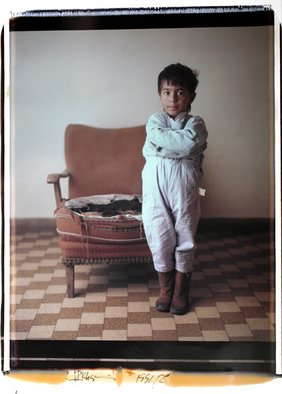 Reza Khatir: 'Nobodys People', 1991 Polaroid Photograph, Portrait.  20x24 Polaroid 50x60cm ...