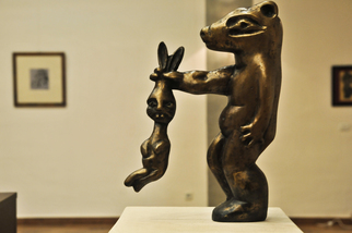 Bronze Sculpture by Catalin Geana titled: Rabbit, 2012