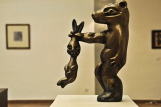 Catalin Geana Artwork Rabbit, 2012 Bronze Sculpture, Abstract Figurative
