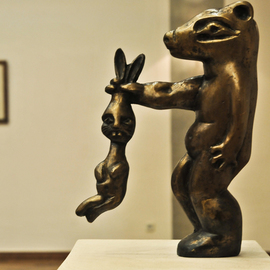 Catalin Geana: 'Rabbit', 2012 Bronze Sculpture, Abstract Figurative. Artist Description: Bronze sculpture, Rabbit, by Catalin Geana...
