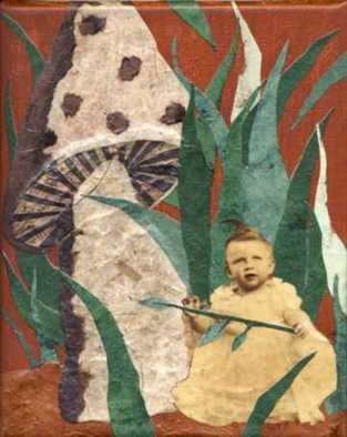 Collage by Cathy Horner titled: Awwww, 2008