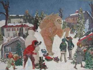 Cathy Horner: 'Dear Christmas', 2008 Collage, Holidays. Artist Description:  Collage art using vintage images, paint and handmade papers. Prints are also available on my web site.  ...