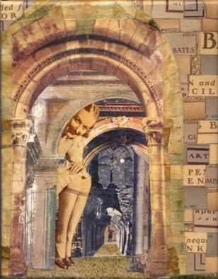 Collage by Cathy Horner titled: The Tourist, created in 2008