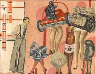 Collage by Cathy Horner titled: Things Guys Like, created in 2008