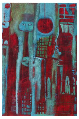 Cathie Joy Young: 'Certain Devils', 2009 Acrylic Painting, Abstract Figurative.  Expressionism ...