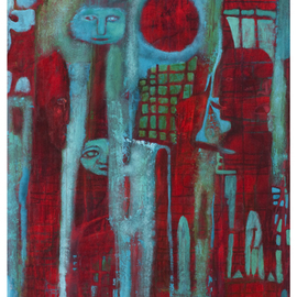 Cathie Joy Young: 'Certain Devils', 2009 Acrylic Painting, Abstract Figurative. Artist Description:  Expressionism ...