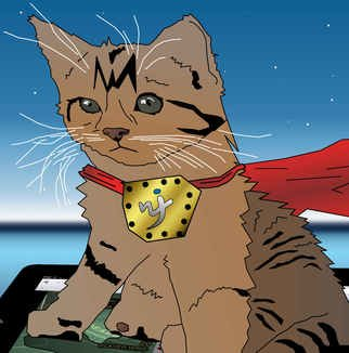 James Katzrine: 'Cat Superhero', 2013 Digital Art, Cats.  With a ipad casino games, you can really test out the old theory that a cat can bring good luck. Unlike a regular computer, the ipad has no keyboard. Everything you do is accomplished just by tapping on the screen . So in...