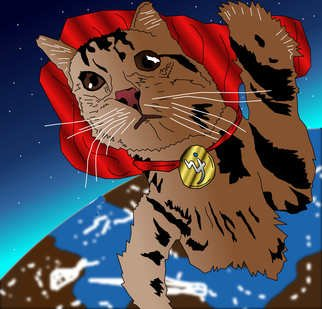 James Katzrine: 'Super Cat to the Rescue', 2013 Digital Art, Cats.  Blackjack players who are also lovers of cats have welcomed the iPhone casino with great gusto. The iPhone casino does not need to be downloaded and can be accessed directly from the web browser of the...