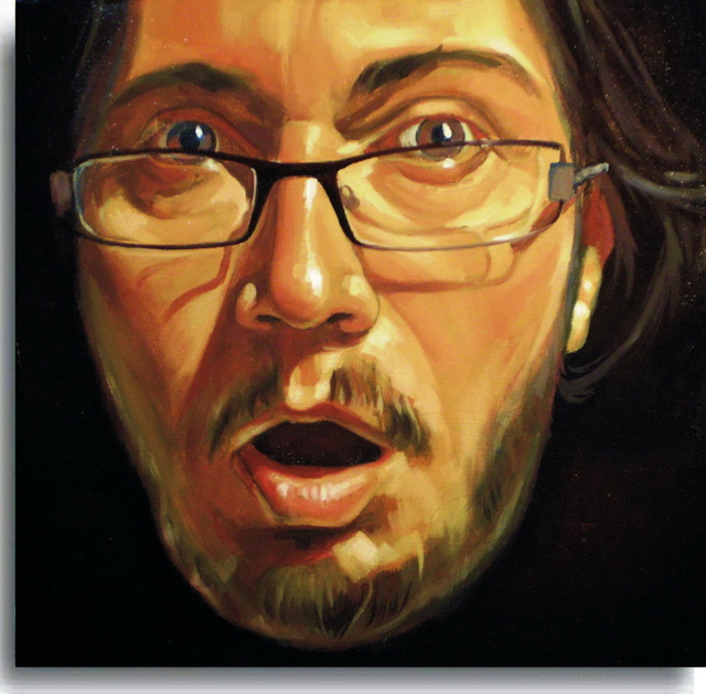 Calin Bogatean  '    Selfportrait', created in 2010, Original Painting Oil.