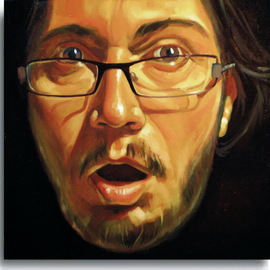 Calin Bogatean: '    Selfportrait', 2010 Oil Painting, Portrait. Artist Description:     Figurative paintings, art, made in the manner hiperrealista, original creation in Technique: Oil painting on canvas ...
