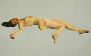 Christophe Bourely: 'Lie Lay 5', 2011 Oil Painting, Figurative.     Nude    ...
