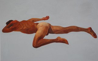 Christophe Bourely: 'Lie Lay 6', 2011 Oil Painting, Figurative.   Nude  ...