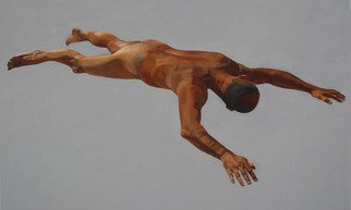 Christophe Bourely: 'Lie Lay 7', 2012 Oil Painting, Figurative.    Nude   ...