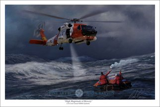 Mark Karvon: 'High Magnitude of Bravery', 2007 Other Painting, Aviation.  The HH- 60