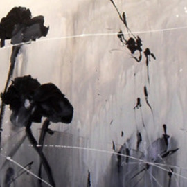 C.c. Opiela: 'Winter  Soltice', 2010 Acrylic Painting, Floral. Artist Description:     Black and whitetextured.    ...