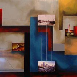 Christian Culver: 'Atlanta 2', 2011 Oil Painting, Architecture. Artist Description:  Oil on wood panel with architectural images. ...