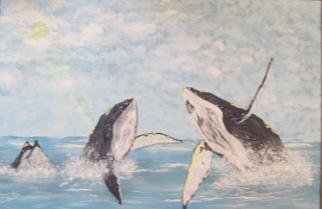 Artist: Craig Cantrell - Title: Hump back Whales - Medium: Acrylic Painting - Year: 1996