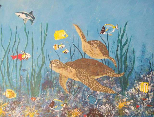 Craig Cantrell  'Life At The Coralreef', created in 2010, Original Painting Acrylic.