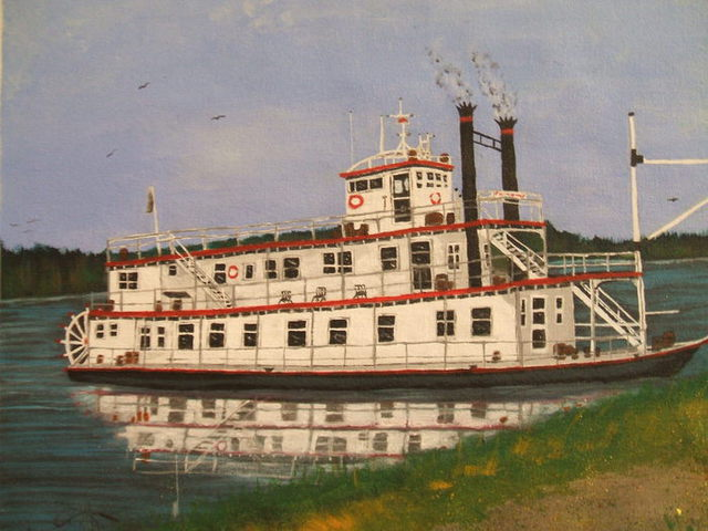 Craig Cantrell  'River Boat', created in 2009, Original Painting Acrylic.