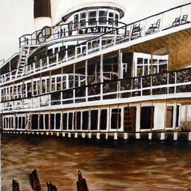 Craig Cantrell: 'Tashmoo', 2009 Oil Painting, Boating. Artist Description:   My rendition of the Steamship Tashmoo from the early 1900' sCanvas print size 11. 5x8 $150. 00Photo print size 18 x 24 $50. 00  ...