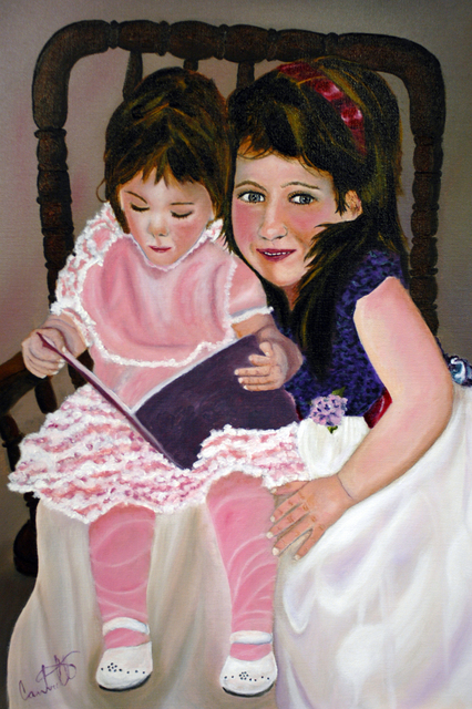 Artist Craig Cantrell. 'The Girls' Artwork Image, Created in 2011, Original Painting Acrylic. #art #artist