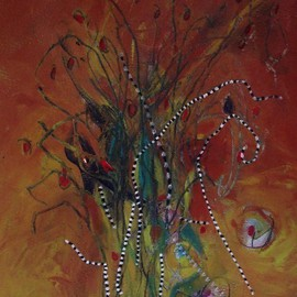 Christine Alfery Artwork Fall Bouquet, 2009 Acrylic Painting, Floral