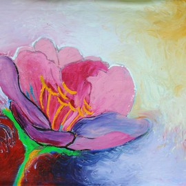 Christine Alfery Artwork Pepper Pink, 2009 Acrylic Painting, Floral