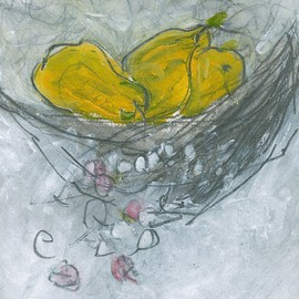 Christine Alfery Artwork Still Life With Pears, 2010 Other Painting, Abstract Landscape