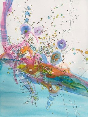 Christine Alfery: 'willywonka sflyingmachineii', 2017 Watercolor, Aviation. Conceptural Art work.  ...