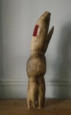 Wood Sculpture by Cecile Tissot titled: Oratoire Vide en hauteur, created in 2013