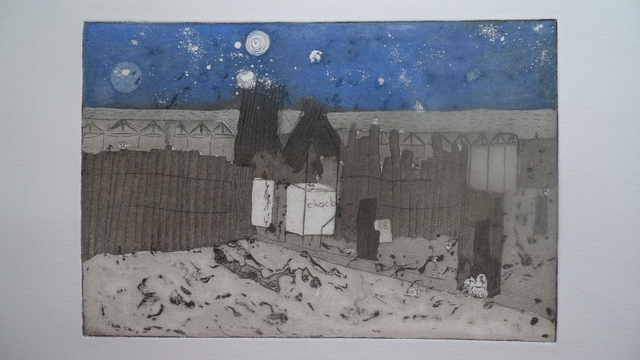Cecilia Sassi  'Party At 1 AM', created in 2011, Original Printmaking Monoprint.