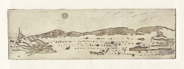 Cecilia Sassi  'Salt Desert', created in 2011, Original Printmaking Monoprint.