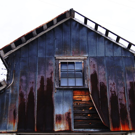 Celeste Mccullough: 'Barn', 2014 Color Photograph, Architecture. Artist Description:  Architectural- still life photograh of an abandoned barn with rusty tin- siding.   ...