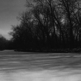 Celeste Mccullough: 'Frozen Creek', 2008 Black and White Photograph, Landscape. Artist Description: B& W landscape photo of Fall Creek, Indianapolis IN. ...