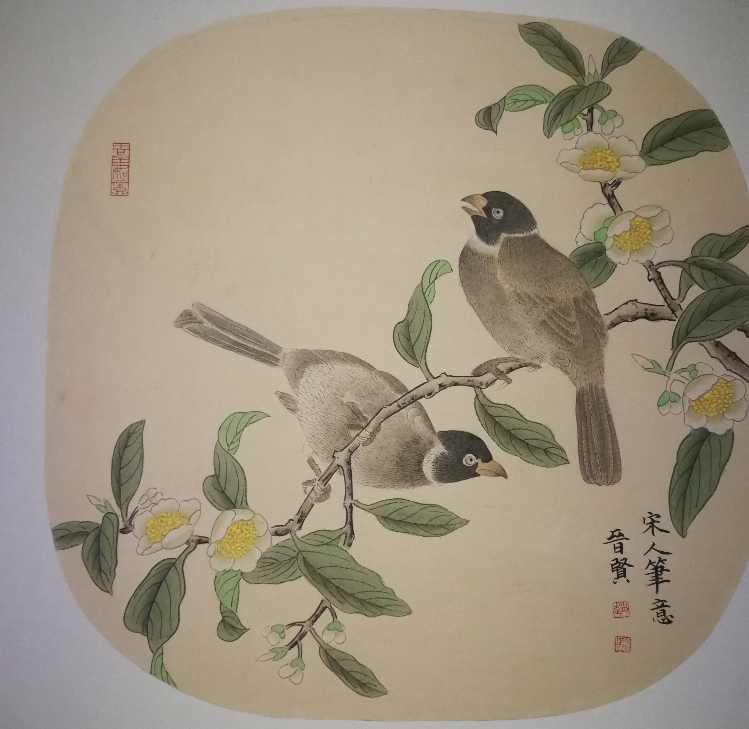 Jinxian Zhao : 'chinese bird painting', 2019 Ink Painting, Birds. This is meticulous painting.  which is one of chinese painting.  key on the brush line. 100handmade...